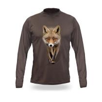 Lovska majica z sliko lisice v 3D dimenziji.