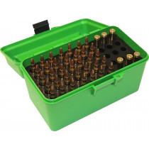 MTM Deluxe Ammo Box 50 rd. Handle 223Rem/204Ruger, green #H50-RS-10