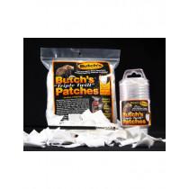 "Butch's Triple Twill Patches .22 - .270 Caliber, 1-1/8"" Square, 500 Pcs"